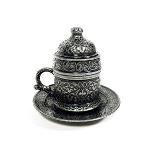 восточная кофейная чашка в металле