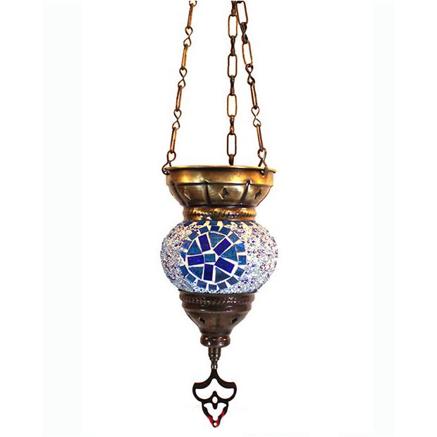 Подвесной мозаичный турецкий светильник